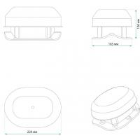 KV Aero-Vent Wave Аэратор для скатной крыши из металлочерепицы с круглой волной