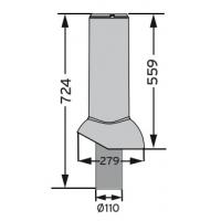 MX 110/ИЗ/560 выход канализационного стояка