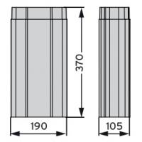 MX удлинитель цокольного дефлектора