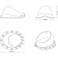 KV  Base-VT Wave 125/150 Проходной элемент для металлочерепицы